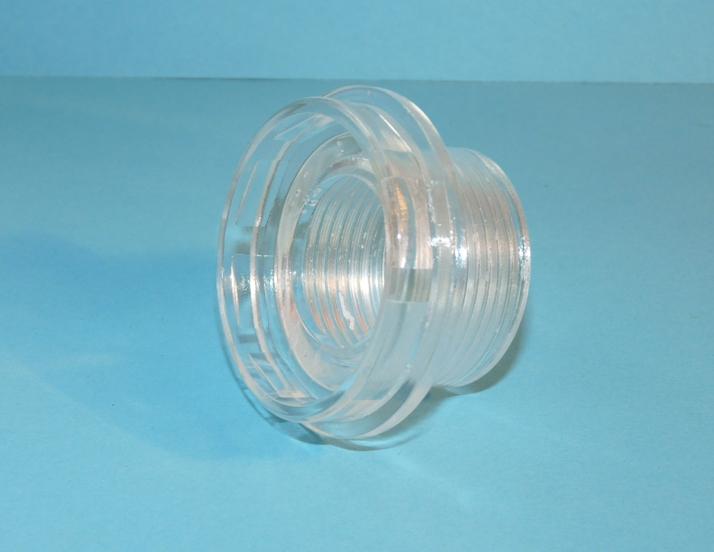 """Meßner UV-C Anschlußstück 1"""" IG transparent"""
