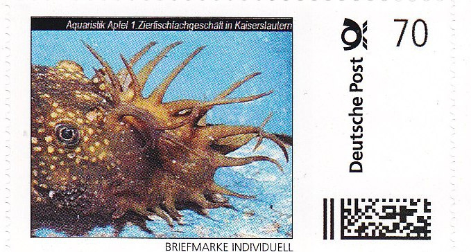 AA-Briefmarke 0,70 € Deutsche Post Individuell Antennenwels