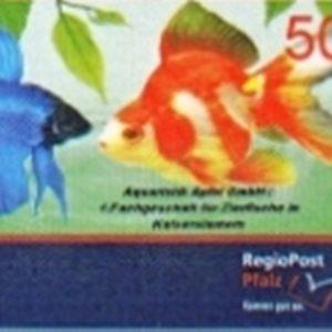 Briefmarke Zierfische RegioPost-Pfalz 50 Cent