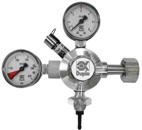 Dupla CO2 Doppeldruckmanometer