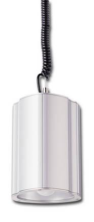 Giesemann Wega  80/125 Watt, die Pendelleuchte auf diesem Bild hat die Giesemannfarbe Titaniumsilber-metallic