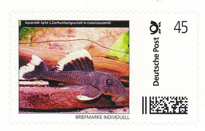 AA-Briefmarke 0,45 € Deutsche Post Individuell Magnum-Prachtharnischwels