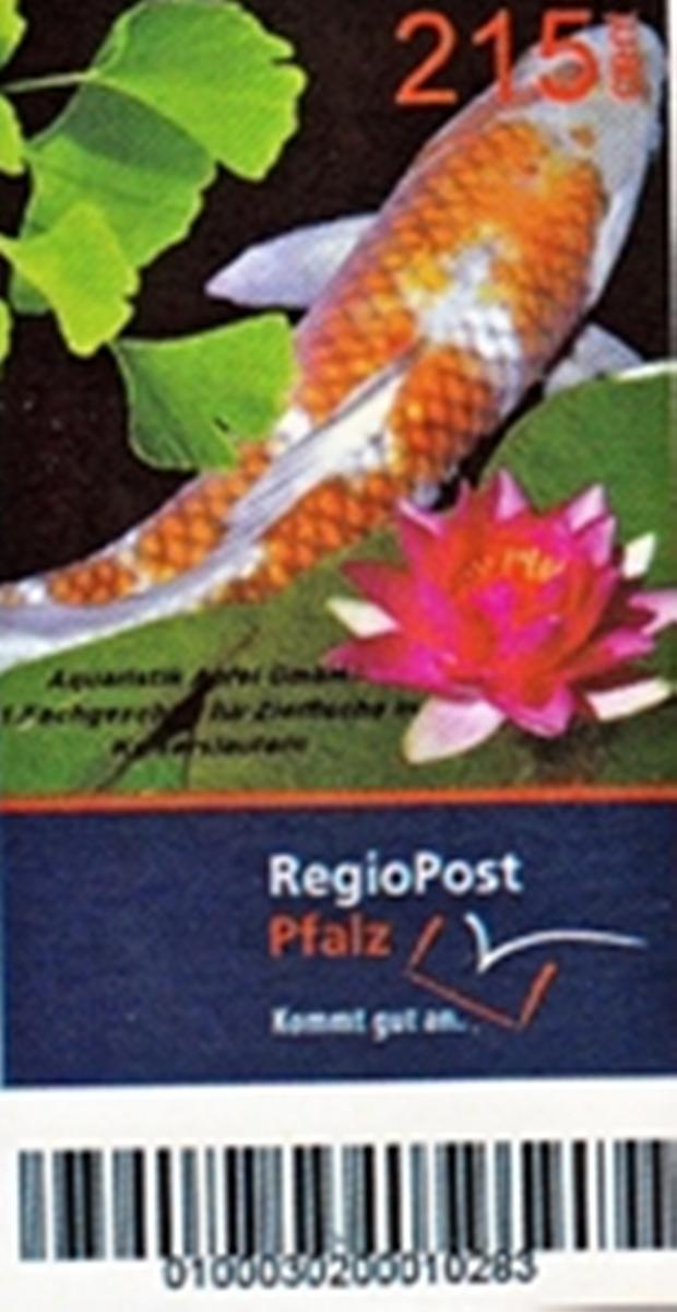 Briefmarke Zierfische RegioPost-Pfalz 215 Cent