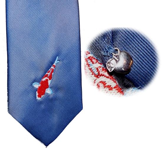 """Krawatte """"Koi"""" mit Apfelbembel"""