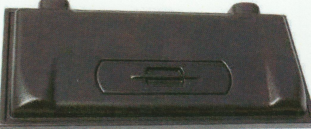Kunststoffabdeckung schwarz, 80 x 35 cm