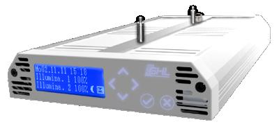 LED-Hängeleuchte Mitras LX 6000-Serie Front weiß, Korpus Silber metallic