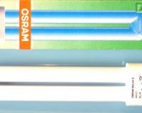 Energiesparlampe Osram Dulux S 9 Watt blau