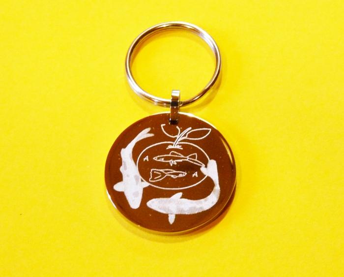 Schlüsselanhänger - rund -