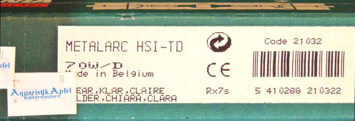 Sylvania HQI Metalldampflampe 70 Watt/D