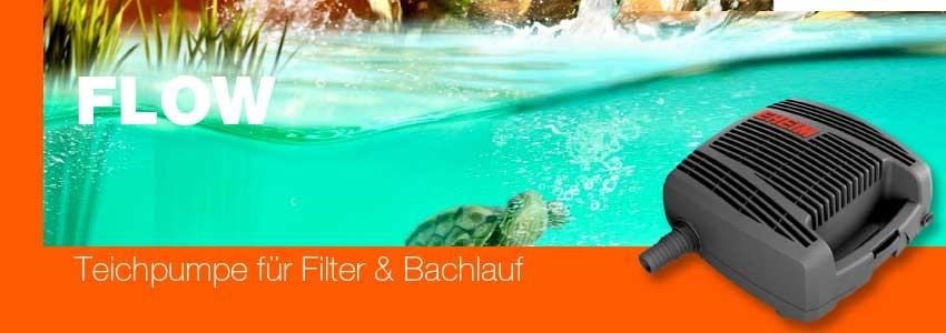 Eheim Flow 6500 Teichpumpe für Filter und Bachlauf