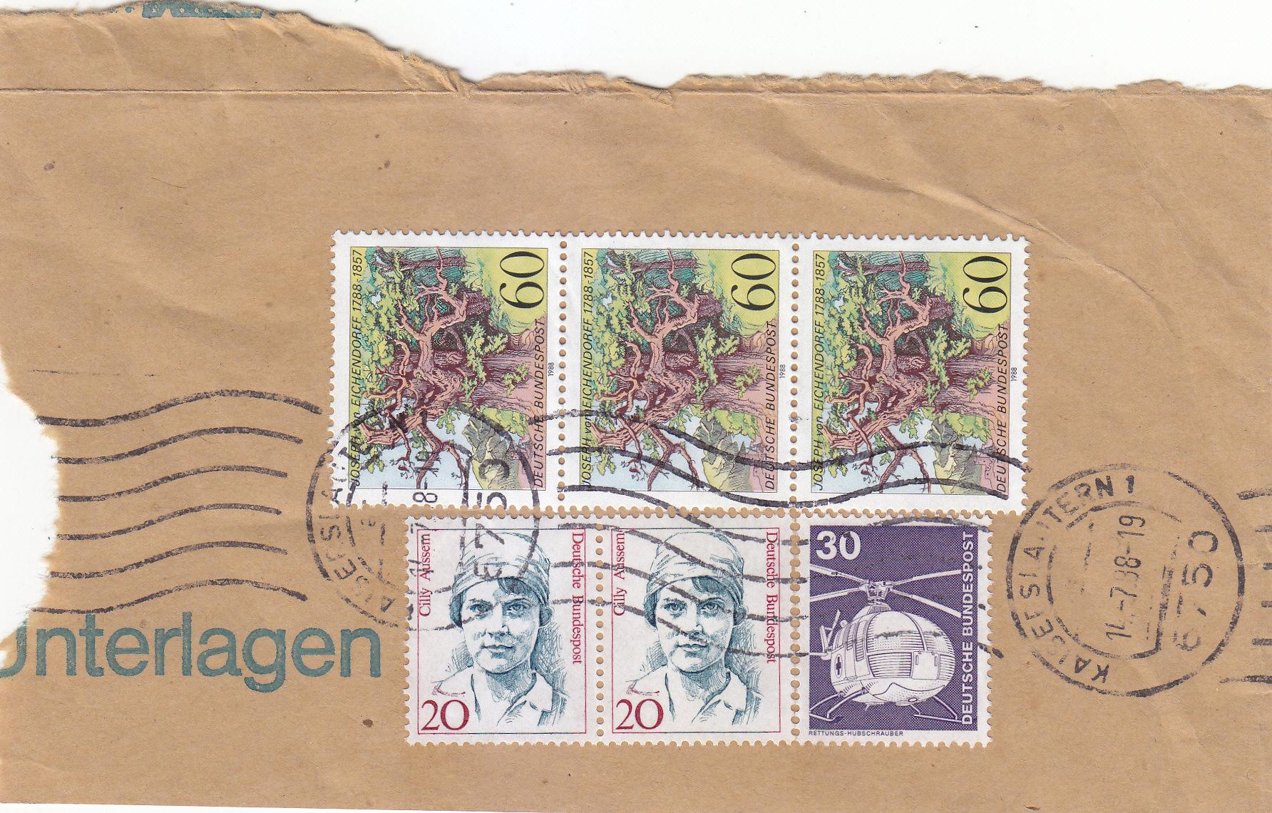 Marken auf Briefstücke