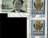 Marken auf Briefstück