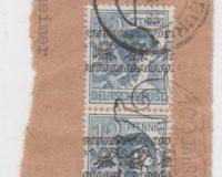 Marke auf Briefstück
